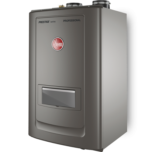 Rheem RCBH199DVLN Indoor Natural Gas Wall Hung Combi Tankless Water Heater Boiler