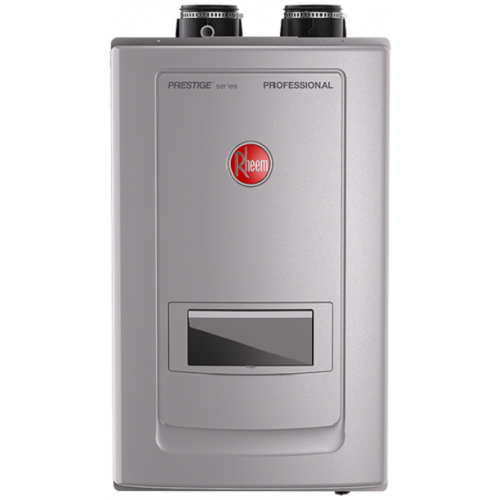 Rheem RTGH-RH10DVLN Prestige Series Condensing Tankless Water Heater w/Built-In Recirculation