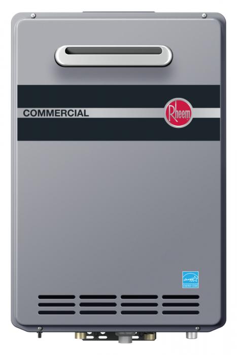 Rheem RTGH-CM95XLP Outdoor Propane Condensing Tankless Water Heater w/ Built-In Manifold