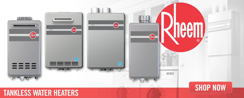 Tanklessking Com Tankless Water Heaters Rheem Tankless